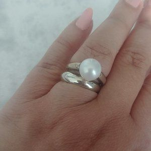 Links of London White Pearl  925 SS ring